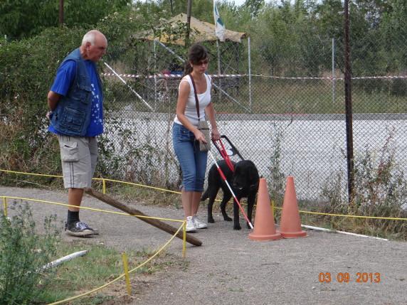 Анна тренира с нейното бъдещо куче Зора