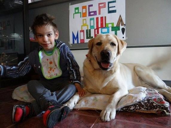 Ники Георгиев и кучето асистент Моцарт